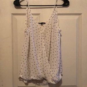 Cute white patterned suit tank top!
